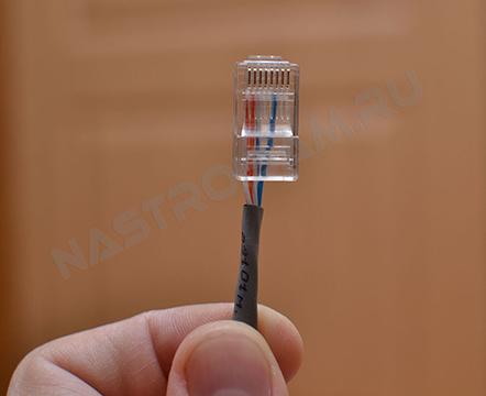 Делаем патч-корд 2 (витая пара 4 провода) .